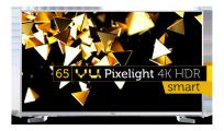 VU (65) 163 cm Pixelight 4K HDR Smart LED TV LTDN65XT800XWAU3D